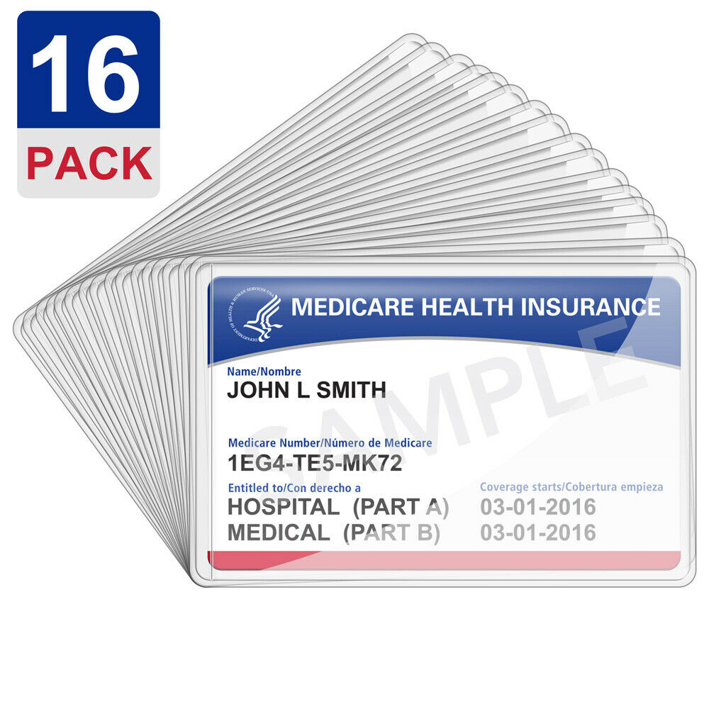 New Medicare Card Holder Clear Soft Waterproof Credit Business Protect... - s l1600