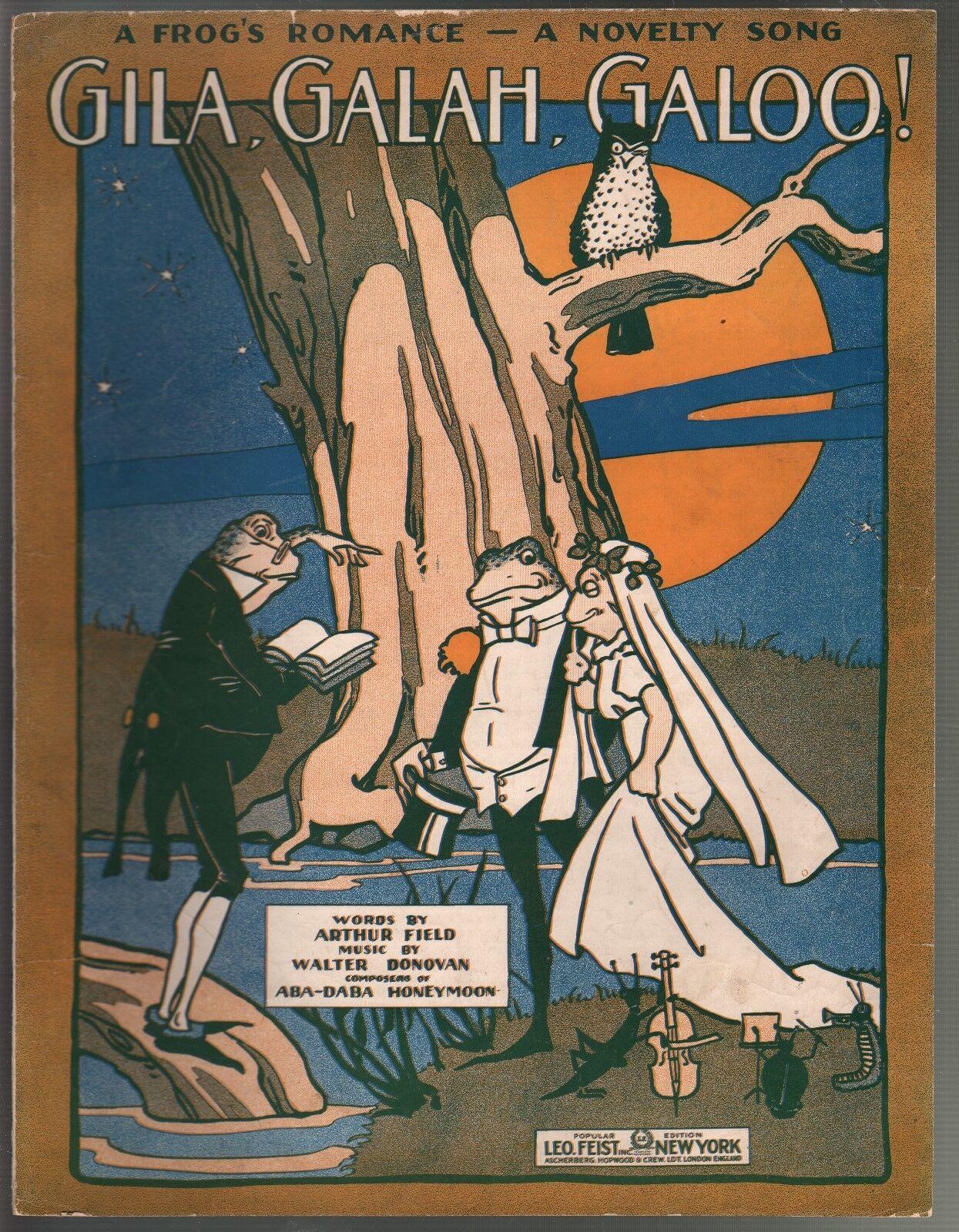 Gila Galah Galoo 1916 Large Format Sheet Music