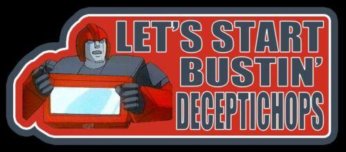 "80/'s G1 Transformers Classic Ironhide /""Bustin/' Deceptichops/"" custom tee AnySize"