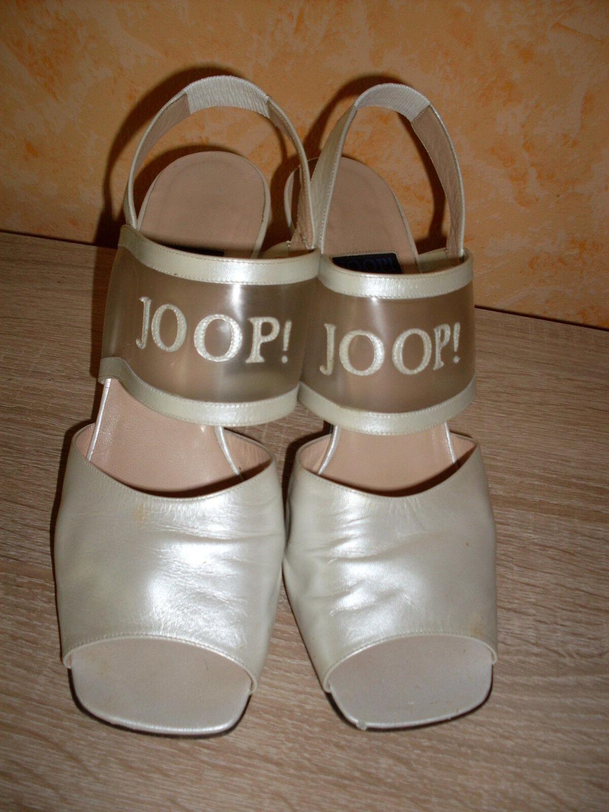 JOOP   Sandaleette in perle Leder super edel Gr. 40,5 einfach mal ansehen