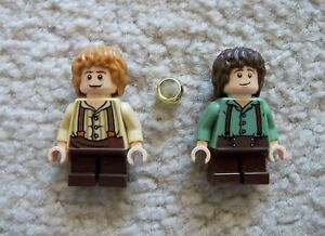 LEGO-Lord-Of-The-Rings-Original-Bilbo-amp-Frodo-Baggins-w-The-Ring-Excellent