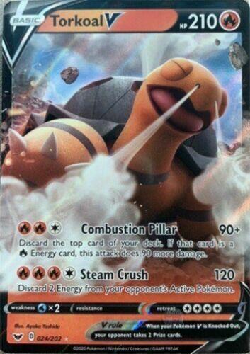 024//202 Ultra Rare Torkoal V Pokemon Sword and Shield Card