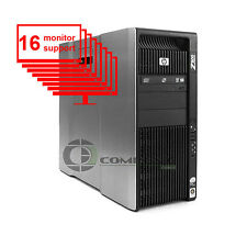 HP Z800 Multi 16-Monitor Computer/Desktop 8-Core/1TB + 256GB SSD/ NVS450/ Win10