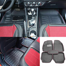 Auto Floor Mats For Rubber Liners Black Heavy Duty All Weather For Car 5pc Set Fits 2006 Civic