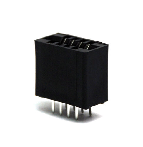 """240-08 10pc Industrial Card Edge Slot Socket Connector 4x2P 8P 2.54mm 0.1/"""" 3A"""