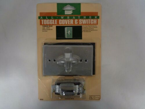 NEW BWF ALL-WEATHER OUTDOOR SINGLE POLE SWITCH AND COVER 10 AMP 125V