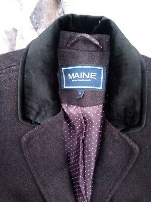BNWT Maine Rain Resist hooded Jacket size 14 in plum RRP £55