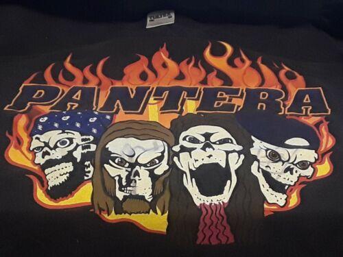 Vintage Pantera Glow Skulls Shirt Large Signed By