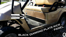 Club Car DS Golf Cart Black Rubber Coated Diamond Plate Kick Panel