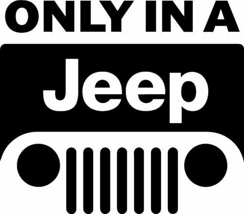 Sólo en un vinilo autoadhesivo con Jeep