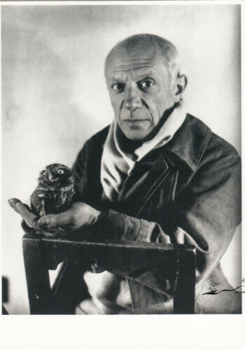 1946 Picasso und die Eule Michel Sima Postkarte