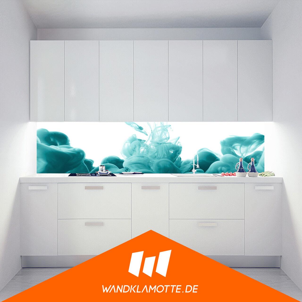 Étagère Murale Cuisine Acrylique Verre Cuisinière Garde-Boue Couleur Vape Bleu