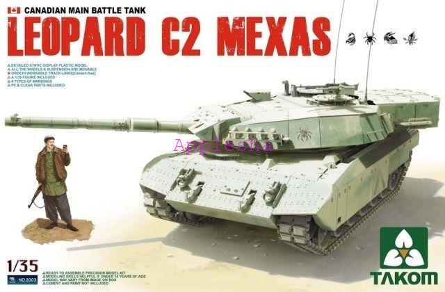 Takom 2003 1 35 Canadian MBT Leopard C2 Mexas