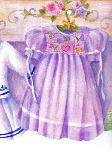 Country Dress for Girls Wallpaper Border Chesapeake Borders 613 Pink Purple