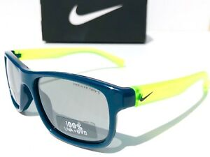 0c00a2c787f NEW  NIKE CHAMP Blue Neon w Grey Lens YOUTH fit Baseball Sunglass ...