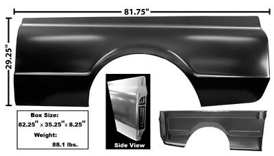 1967-1972 Chevy Fleetside Pickup Inner Bedside Repair Panel Driver Side