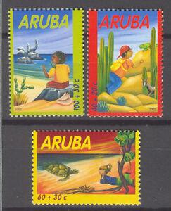 ARUBA 2002 291-93 CHILDREN KIND  ++ MNH POSTFRIS **