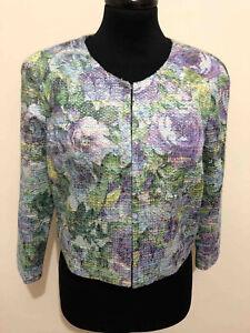 Pignatelli Femme Sz Veste Carlo 42 Woman Blazer Fête Flower Jacket Lurex S qCAw4cxdwE