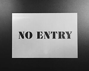 No entry sign pochoir aérographe wall art craft peinture personnalisée home diy réutilisable 							 							</span>