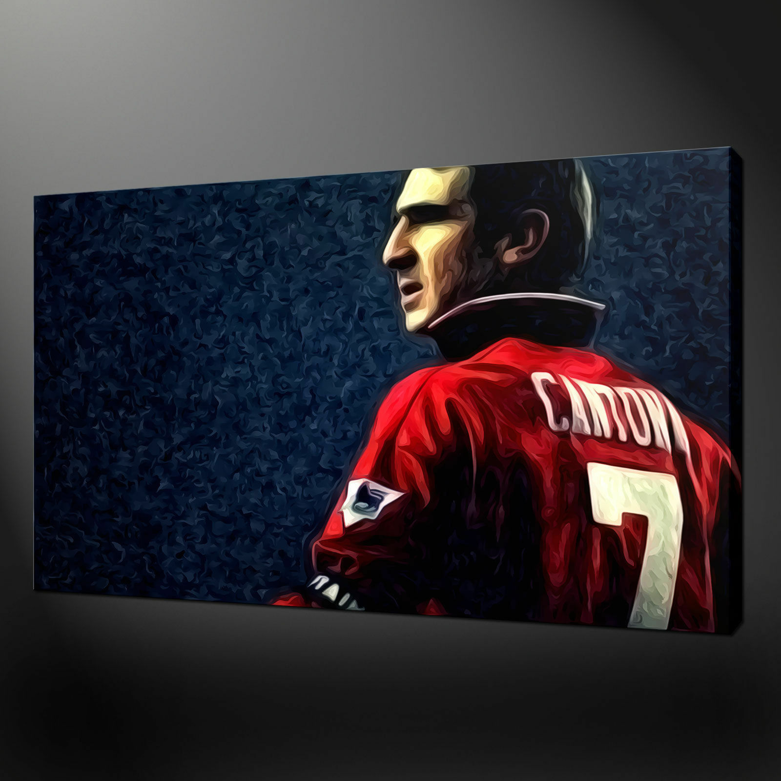 ERIC CANTONA CANVAS PRINT PICTURE WALL ART FREE UK DELIVERY VARIETY OF GrößeS