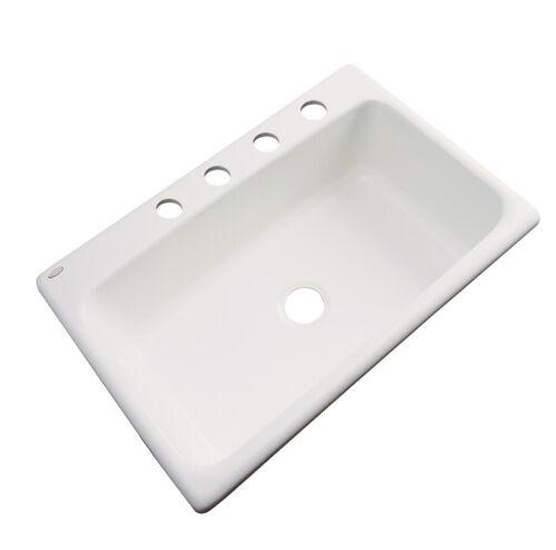 "Solidcast Wilmington 33/"" L x 22/"" W Kitchen Sink"