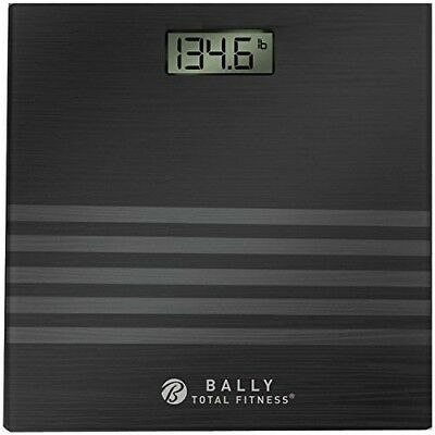 Bally Total Fitness Digital Bathroom Scale BLS-7305-BLK up 400 Lb ...