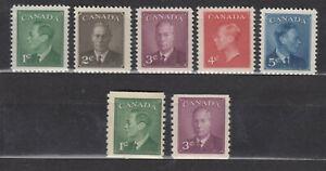 1950 #289-93 #295-6 KING GEORGE VI POSTE-POSTAGE OMITTED SET COMPLETE SET F-VFNH