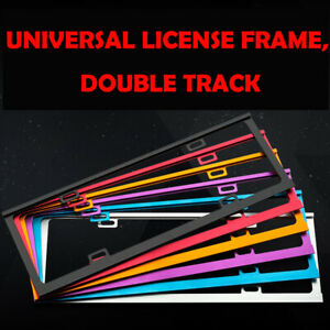 Car-Styling-License-Plate-Frame-Thickened-Gold-Aluminum-Alloy-Universal