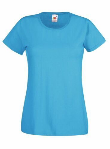 2er Pack Damen T-Shirt Fruit of the Loom Lady-Fit Valueweight T Öko-Tex 61-372-0