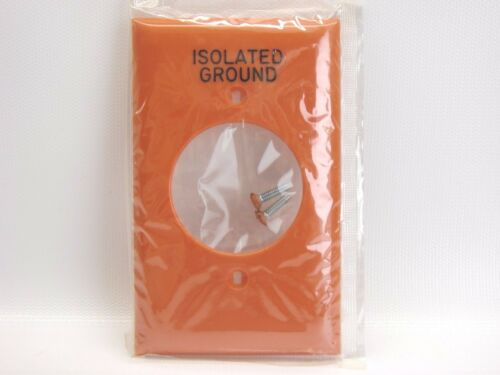 "NEW Hubbell NP720OIG Orange Isolated Ground Single Outlet Wall Plate 1.60/"" Hole"