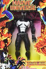 "Toy Biz Marvel Universe Spider-Man Black Costume Venom 10"" Action Figure NIP"