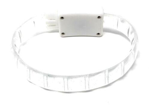 2 White LED Adjustable Light Up Glowing Flashing LED Party Bracelet Rave Dance