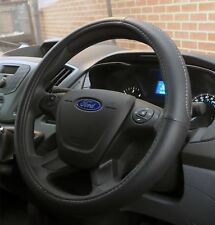 Black Steering Wheel Cover Soft Grip Leather Look Glove Ford Transit MK7 (06-14)