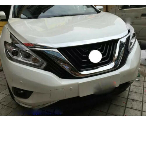 1X Chrome Front Grill Grille Engine Hood Cover Trims For Nissan Murano 2015-2019