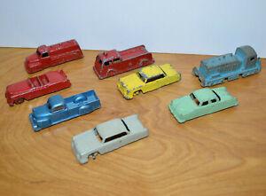 Vintage-GOODEE-TOY-amp-MIDGETOY-Diecast-Metal-Car-Lot-Fire-Truck-Train