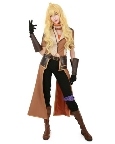 Yang Xiao Long Cosplay Costume Outfit Jacket Pants Gloves Yellow