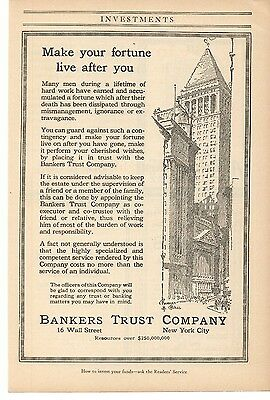 Advertising-print 1916 Bankers Trust Company New York City Advertisement Special Summer Sale