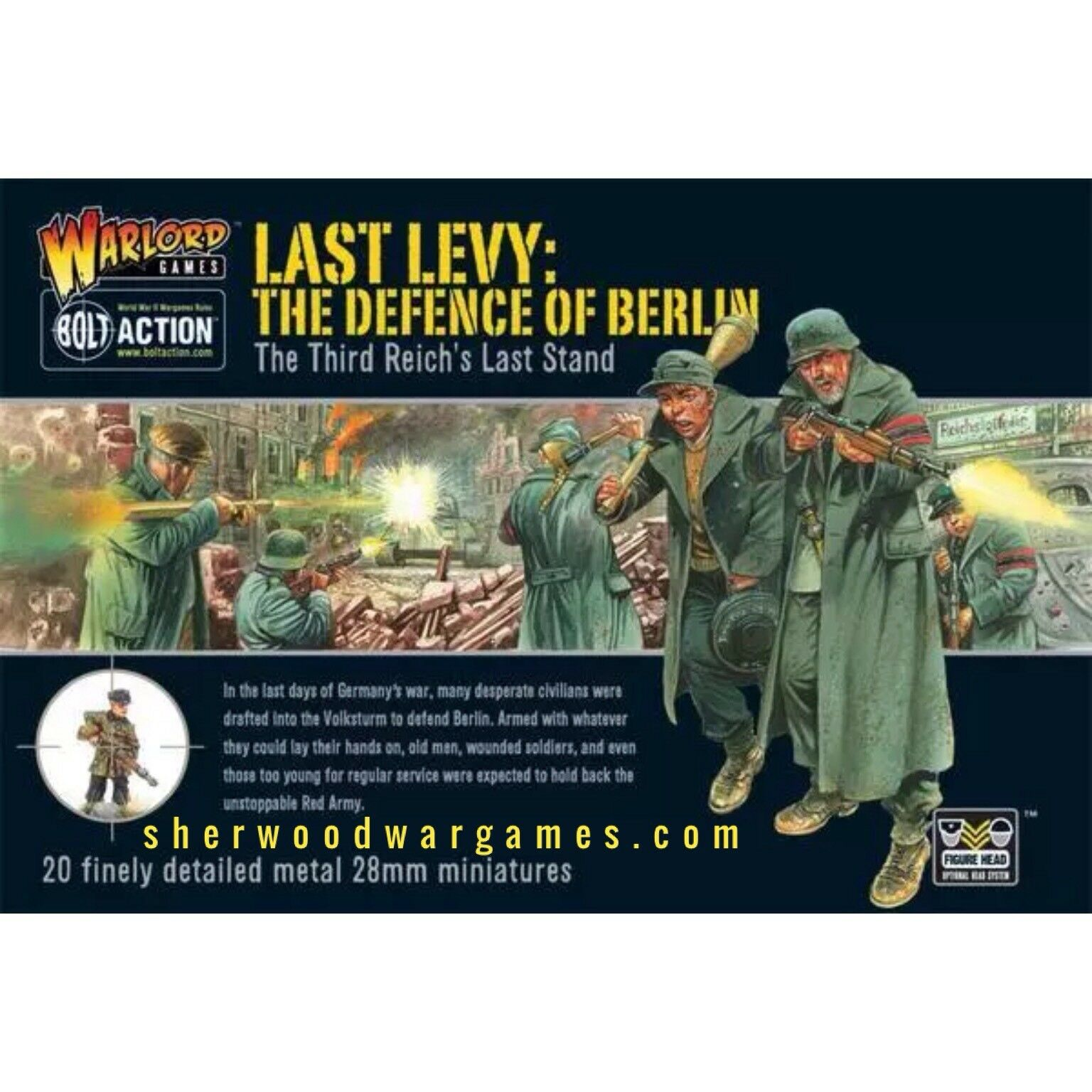 28mm Warlord German Last Levy, Defence of Berlin, for Bolt Action WW2