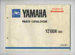 Yamaha-YZ100-1980-gt-Genuine-Parts-List-Catalogue-Manual-Book-YZ-100-H-3R2-CE57