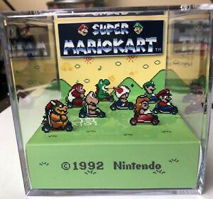Super-Mario-Kart-3D-Cube-Handmade-Diorama-Shadowbox-Snes-Fanart
