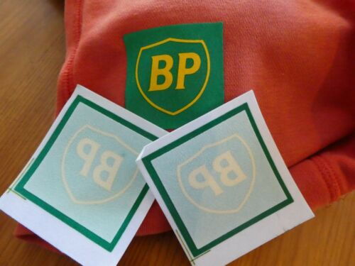 BP British Petroleum Olive Green 5.5cm  Iron on Badge Material Brand New