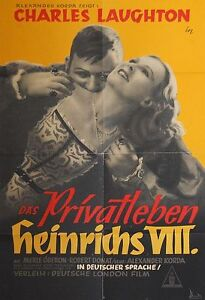 PRIVATLEBEN-HEINRICHS-VIII-Filmplakat-Kinoplakat-039-49-CHARLES-LAUGHTON