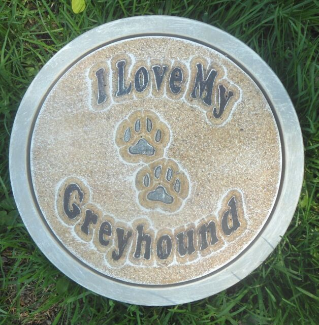 I love my greyhound w/ paws stepping stone mold More dog molds in my store