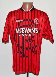 RANGERS SCOTLAND 1994/1995 AWAY FOOTBALL SHIRT JERSEY ADIDAS SIZE L ADULT