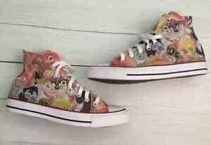 Scarpe-sneakers-Converse-All-Star-Custom-Looney-Tunes-artigianali-Made-in-Italy