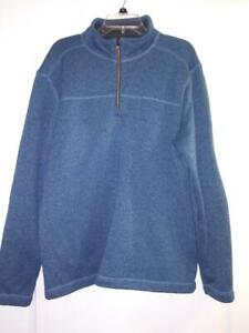 NWT G.H Men's 1//4 Zip Long Sleeve Pullover Shirt Gray Bass /& Co Size XL