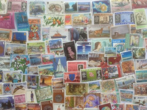 1000 Different Channel Islands Stamp Collection
