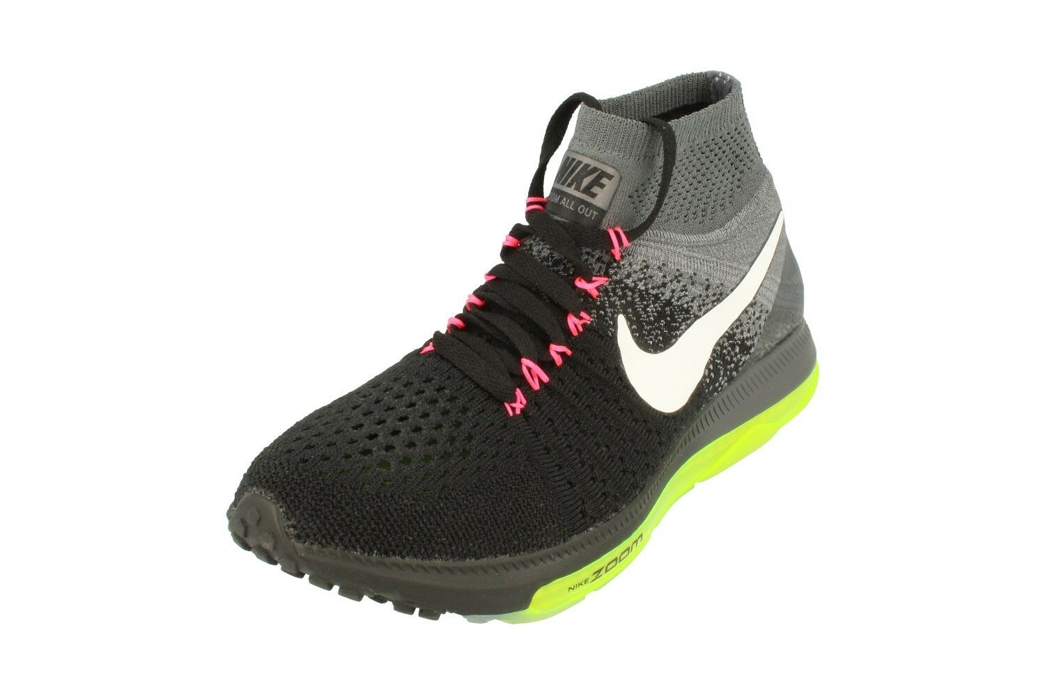 Nike Trainers Womens Zoom All Out Flyknit Running Trainers Nike 845361 002 Sneakers Shoes eb5ca3