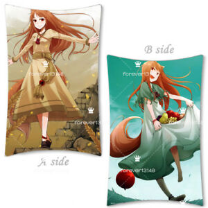 Anime Spice and Wolf Horo Holo Dakimakura Hugging Body Pillow Case cover