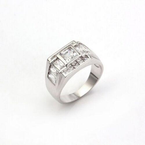 Zirkonia College Ring Herren Ring Siegel Ring HX10199 rhodiniert